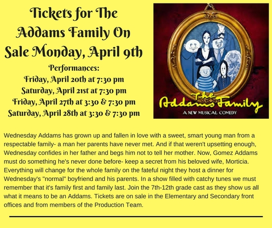 CORRECT-Addams Family Ticket Announcement