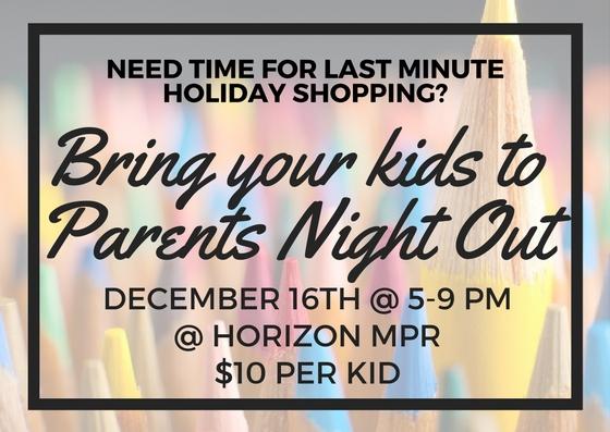 Parents Night Out Elementary Eblast 2